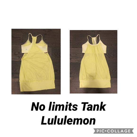 Lululemon yellow no limits tank sz 4